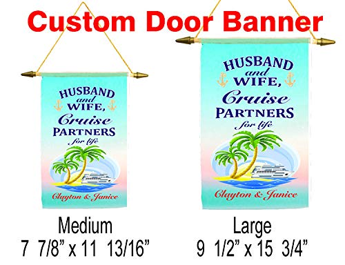 Customization available for a unique banner! Cruise ship door banner