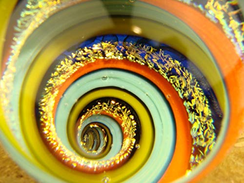 Dichroic Glass Vortex Marble Illusion Orb Fibonacci Spiral by Tim Mazet VGW. (Ready to Ship).