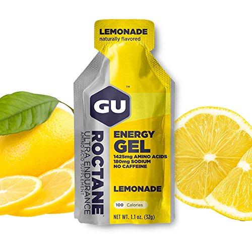 GU Energy Labs Roctane Ultra Endurance Energy Gel, Lemonade, 24 Count (27.09 OZ.) (Gu Energy Labs Original compare prices)