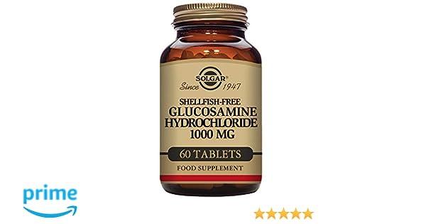 Solgar Glucosamina Clorhidrato 1000 mg Comprimidos - Envase de 60: Amazon.es: Salud y cuidado personal