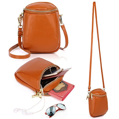 6 Cell S8 Edge 6S Purse Samsung Plus 8 Small Fits Brown Galaxy Women S7 for 7 Zg Crossbody Phone Crossbody and IPhone Purse for q714xXw