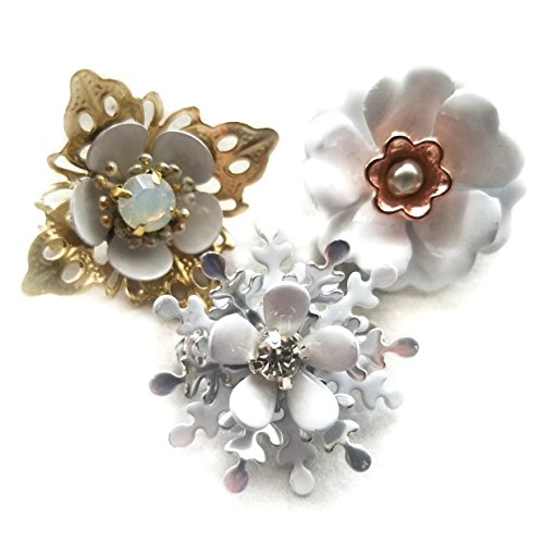 l Flower Brooches (Set of 3) (1950s Brooch)