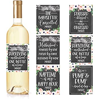 AmazonCom   Chalk MommyS First Milestone Stickers Or Wine Labels