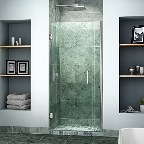Cheap dreamline unidoor 33 34 in width frameless hinged for Discount frameless shower doors