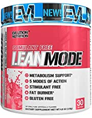 Evlution Nutrition Lean Mode Stimulant-Free Weight Loss Supplement with Garcinia Cambogia, CLA and Green Tea Leaf Extract, 30 Serving