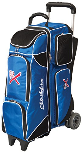 - KR Strikeforce Royal Flush 4X4 Roller Bowling Bag, Royal/Black