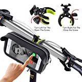 Bike Mount,Global Patent New Design Kainnt Bike Phone Mount Bicycle Holder, Universal Cradle Clamp for iOS Android Smartphone 3.5-5.8inch Phone Device and GPS Devices,With Sun visor to Protect Your Eye, 360 Degrees Rotatable