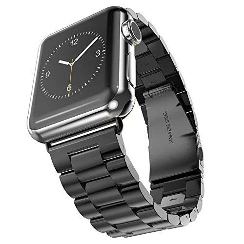 24 opinioni per Cinturino Apple Watch,SUNDAREE 42mm Acciaio inossidabile Bracciale con chiusura