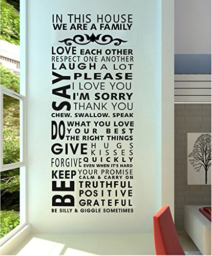 Family/House Rules/Quotes/Saying we are a Family Decorative Pattern Fashion Wall Stickers Decal Decor for Home… 1