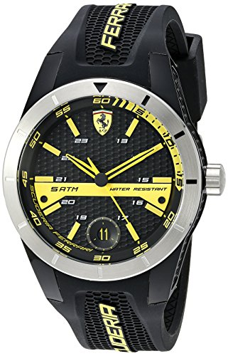 Ferrari Men's 0830277 REDREV T Analog Display Quartz Black Watch