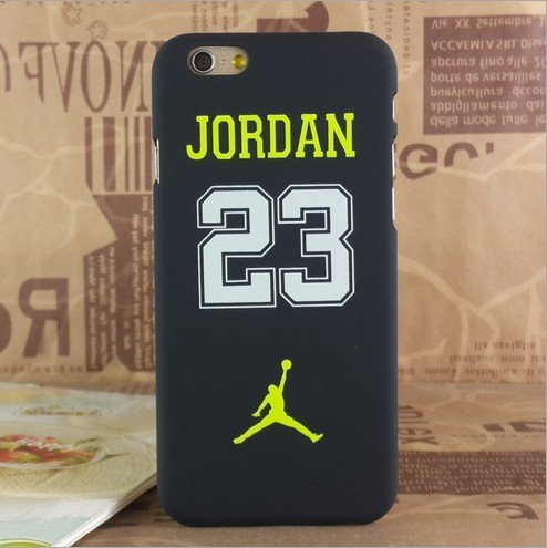 NEW AIR JORDAN LOGO JUMP SOFT PC CASE FOR APPLE IPHONE 6/6S NO .23 YELLOW BLACK