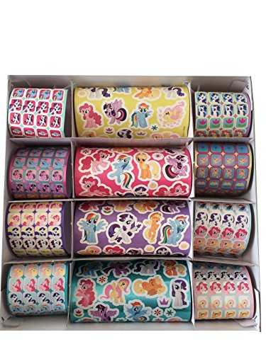 Secret for Longevity Little Pony Horse 1000+ Stickers Sheet Roll w/ Book Pad Gift Set Party Favor Scrapbooking