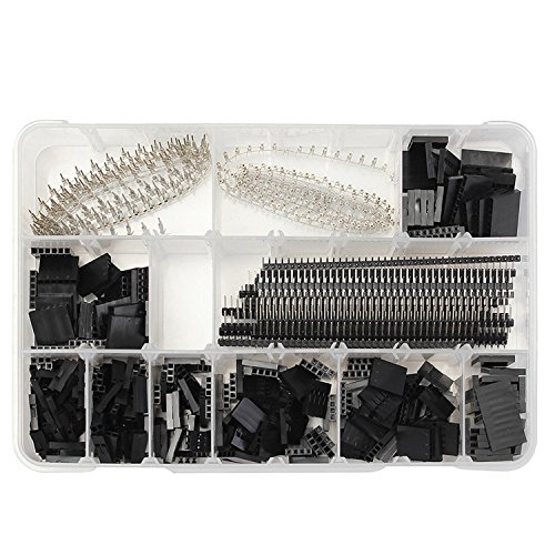 (WINGONEER 2.54mm Male Female Dupont Wire Jumper with Pin Header Connector Housing Kit - 1450PCS)