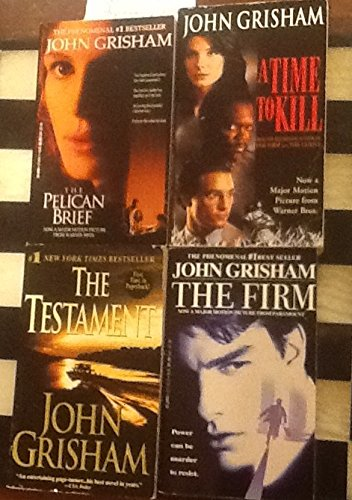 4 Books! 1) The Pelican Brief 2) A Time to Kill 3) The Testament 4) The Firm