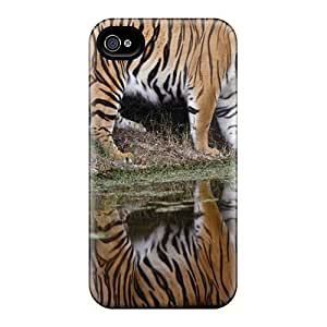 Premium Tiger Time Relax Heavy-duty Protection Case For Iphone 4/4s