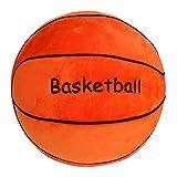 Basketball Plush Pillow Toy With Basketball Logo 9' L X 9' W X 9' H, Orange