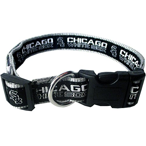 MLB CHICAGO WHITE SOX Dog Collar, Medium