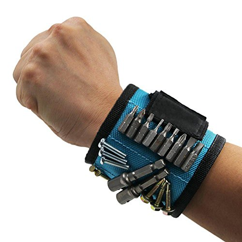 Bath Row Kids (Liping Magnetic Wristband for Holding Tools, Screws, Nails, Bolts, Drilling Bits.Wonderful Gift for Men, Dad, Husband, Friends, Family. (Blue))