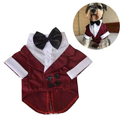 Balacoo Disfraz de Mascota Smoking Perro Traje Formal de Boda con ...