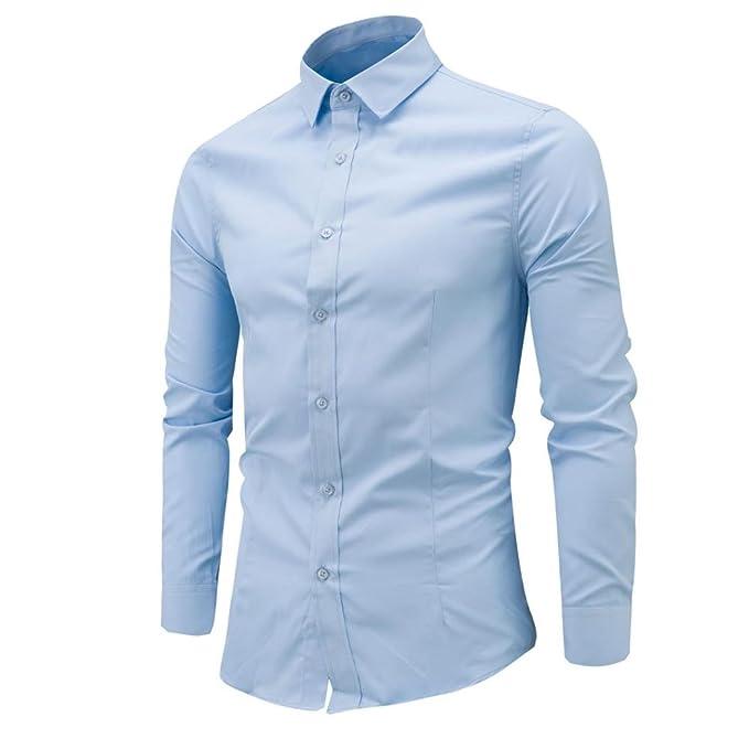 Culater® Camisas Manga Larga Hombre Formales Classich Slim Fit Shirts: Amazon.es: Ropa y accesorios