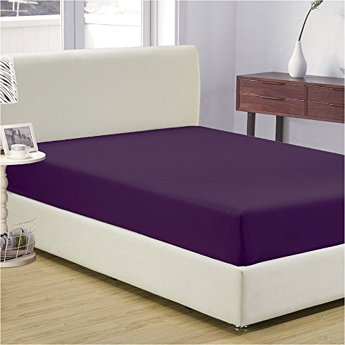 nexis-sundry-100-egyptian-cotton-fitted-sheet-with-15-deep-pocket-500-tc-solid-queen-purple-