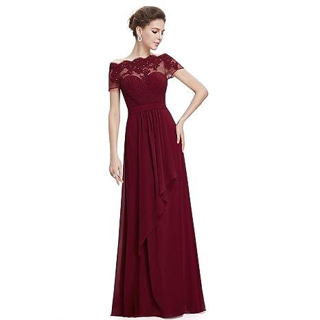 6fac3f64ab manica corta promenade del merletto festa di nozze del vestito da ...