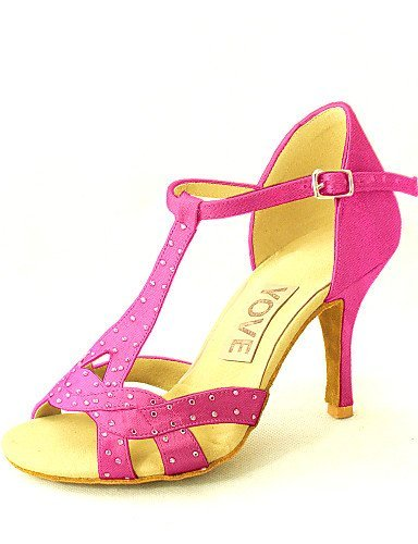 Colors Dance Women's Customizable Shoes Latin More Satin ShangYi fuchsia Sandals AR8aXqXw