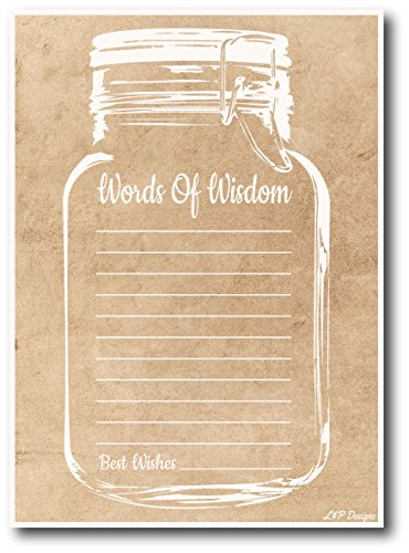 Words of Wisdom Cards | Rustic Mason Jar