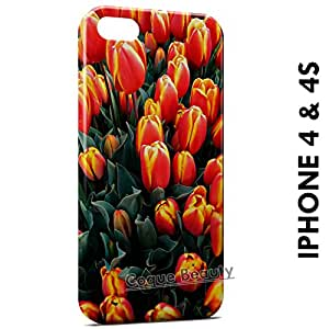 Carcasa Funda iPhone 4/4S Tulips Protectora Case Cover