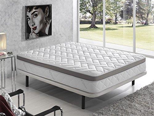 Living Sofa COLCHÓN VISCOELASTICO VISCOELASTICA Premium Acolchado con Hilo DE Plata ANTIESTÁTICO 135 x 190 (Todas Las Medidas): Amazon.es: Hogar