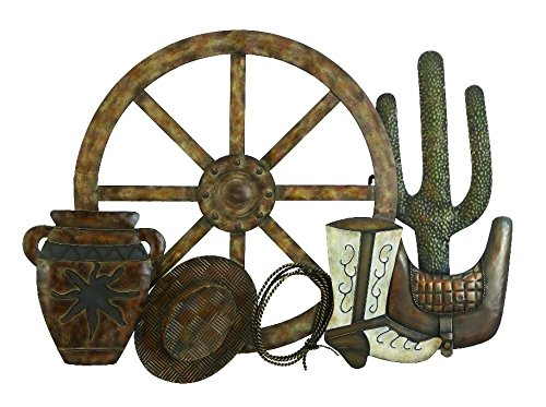 Deco 79 Metal Western Wall Decor,