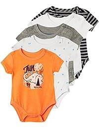 Newborn Baby Boy Short Sleeves Onesies 5 Pack   Ropa de Bebe Niño Varon