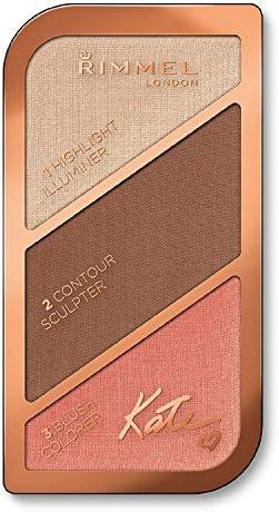 3 Pack) RIMMEL LONDON Kate Sculpting Face Kit - Golden Bronze: Amazon.es: Belleza