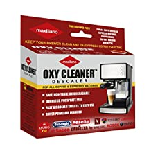 Maxiliano Descaler / Descaling Solutions For ALL Type Coffee Brewing Machines (2 uses per pack) Keurig 2.0, DeLonghi, Saeco, Bosch, Bunn, Nespresso, Cuisinart FREE GIFT INSIDE EACH PACK.