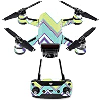 Skin for DJI Spark Mini Drone Combo - Pastel Chevron| MightySkins Protective, Durable, and Unique Vinyl Decal wrap cover | Easy To Apply, Remove, and Change Styles | Made in the USA