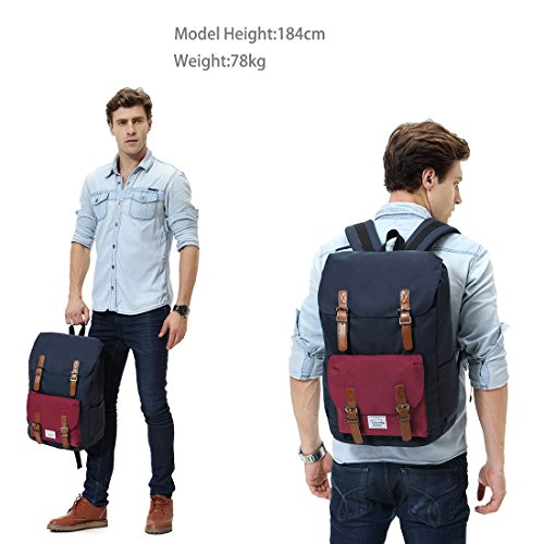 Backpack for men,Vaschy Casual Water-resistant College School Backpack Fits 15.6in Laptop