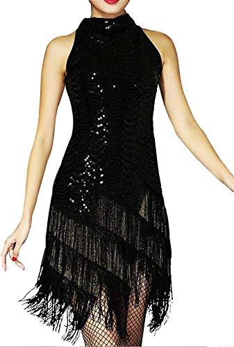 black fringe latin dress - 6