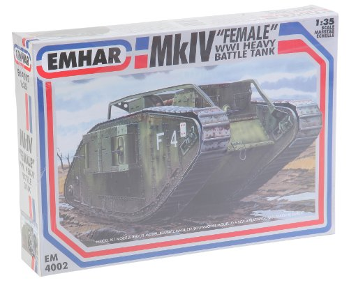 Emhar Models Mk.IV Female WWI Heavy Battle Tank Vehicle Model Building Kit