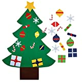 Felt Christmas Tree,Outgeek 3.2ft DIY Christmas Tree with 28 Pcs Ornaments Wall Decor with Hanging Rope for Kids Xmas Gifts Home Door Decoration