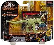 Jurassic World, Coelurus, Dinos al Ataque, Dinosaurio de Juguete para niños de 3 años en adelante con 5 Puntos