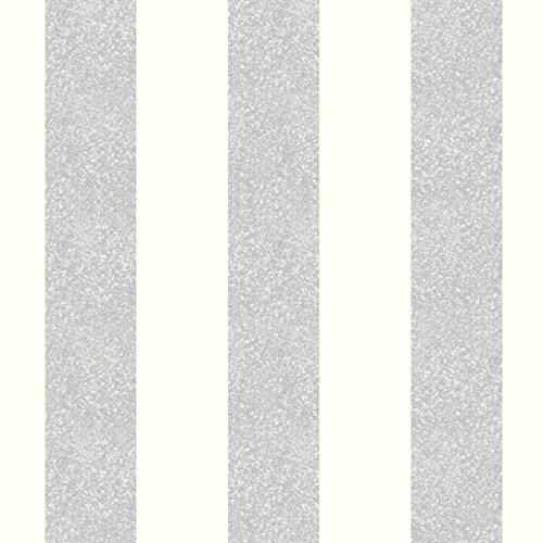 Platinum Stripe (Glitterati Stripe Glitter Wallpaper Platinum Arthouse 892503)