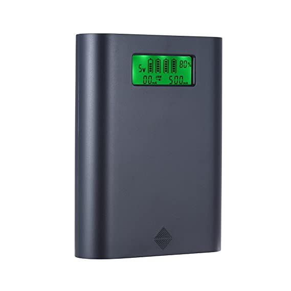 Docooler Soshine E3S Portable LCD Display 4 Slots 18650 Battery External Charger Holder Box Case DIY Power Pack Kit Compact Backup Power Source with ...