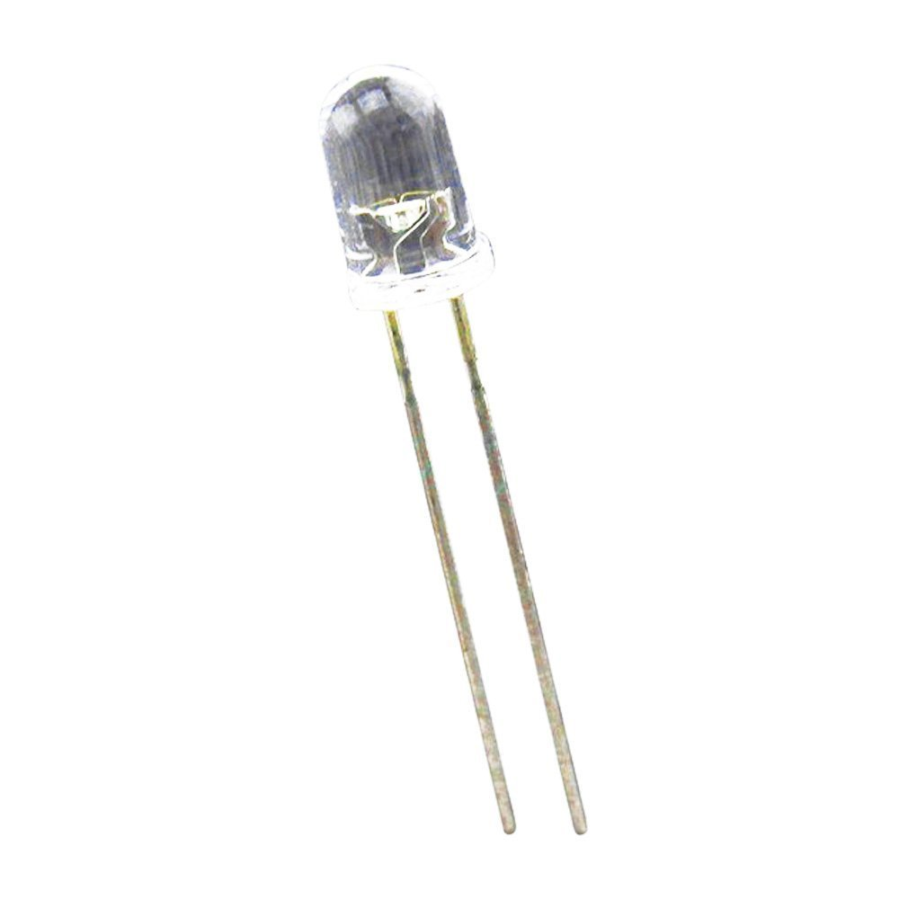 Diode - SODIAL/(R/)100 pcs 5mm Superbright White Round LED 20000 mcd SODIAL /(R/) 049006