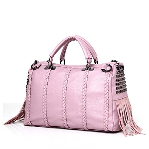 MSXUAN PU leather Classic Women's Handbags & Purses (Pink)