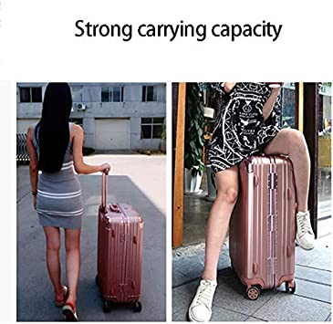 Zxl-xlx 20 inch Boarding Aluminum Alloy Password Box ABS Portable Luggage Box 4 Wheel Trolley case 20 inch 24 inch 26 inch 29 inch Suitcase Color : Titanium Gold, Size : 24 inches