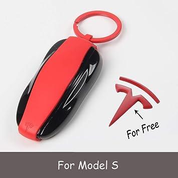 Amazon.com: Tesla - Funda para llave, Rojo: Automotive