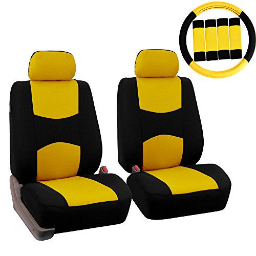 yellow mustang car seat covers - 5
