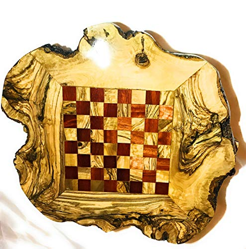 live Wood Rustic Chess Se,t Handmade Chess Board Set, Chess Set Game, Handcrafted Chess Game, Wooden Natural Rustic…