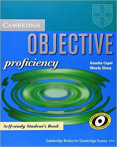 Téléchargez de nouveaux livres gratuitementObjective Proficiency Self-study Student's Book en français CHM 0521000319