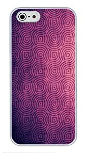 5S Cases, iPhone 5S Protective Case - Purple Texture High Quality PC Plastic Slim Lightweight Hard Case Cover for iPhone 5/5s White